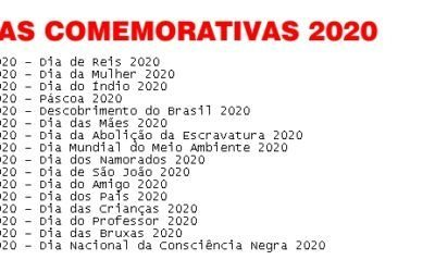 Calendario 2020 Com Feriados.Calendario 2018 2019 2020 Com Feriados