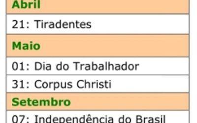 Calendario 2018 Portugal